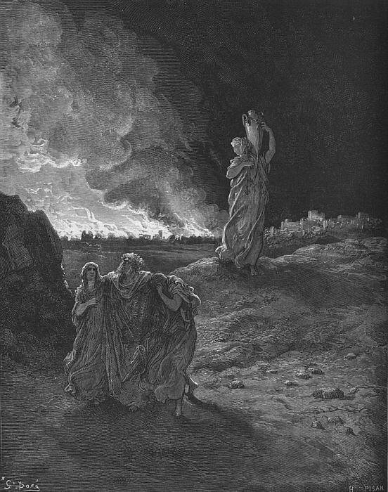 Lot escapa de Sodoma