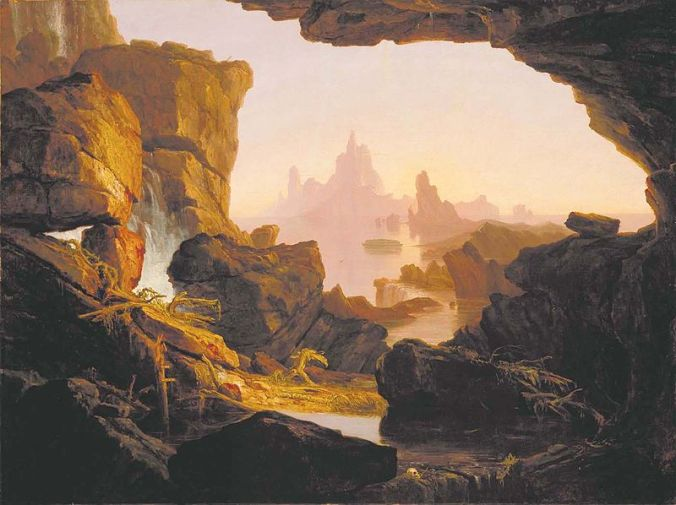 Las aguas menguando, pintura por Thomas Cole (1829)