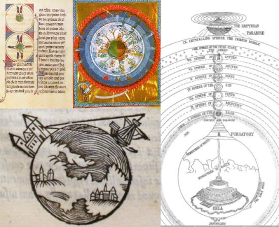 Cosmovisión medieval de la esfericidad de la Tierra