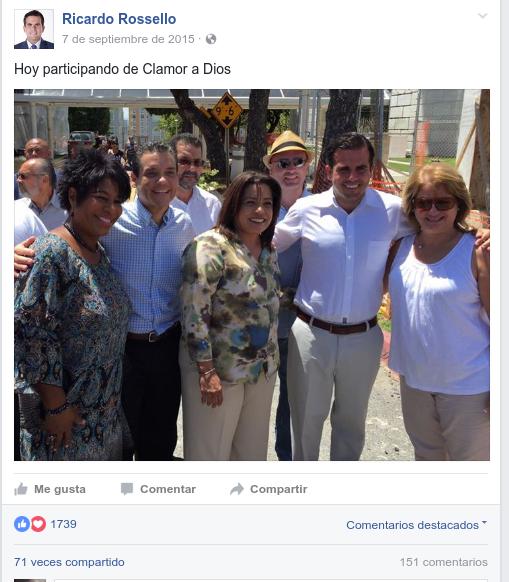 Ricky Rosselló y PNP en Clamor a Dios