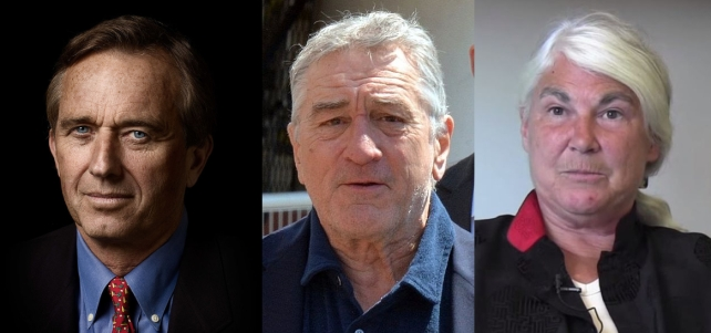 Robert Kennedy, Jr., Robert De Niro y Stephanie Seneff