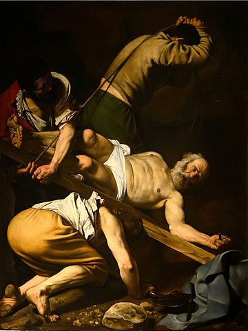 El Martirio de San Pedro -- por Caravaggio (1601)