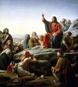 El sermón de la montaña por Carl Bloch (1876)