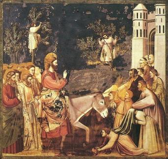La entrada de Jesús a Jerusalén - por Giotto de Bondone (1305)