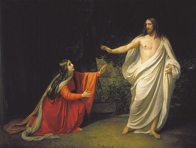 Aparición de Cristo a María Magdalena -- por Alexander Andreyevich Ivanov (1835)