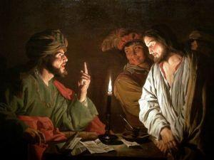 Cristo ante Caifás -- por Mattias Stom (1630)