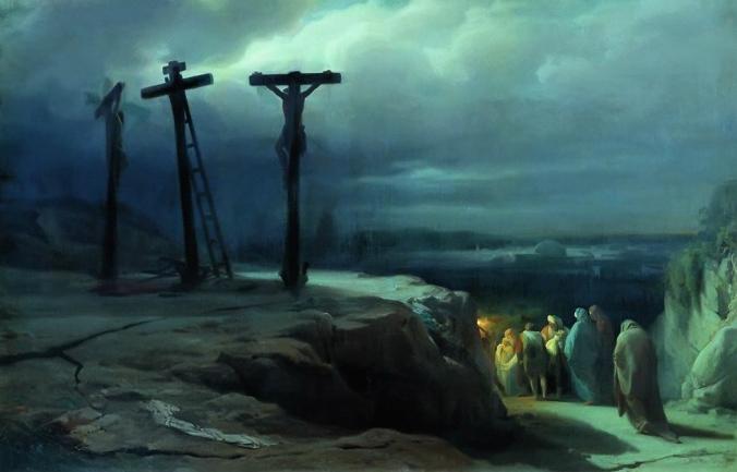 La noche de Gólgota -- por Vasily Petrovich Vereshchagin (1869)