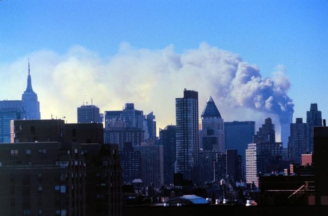 Torres Gemelas tras el ataque del 11 de septiembre 2001