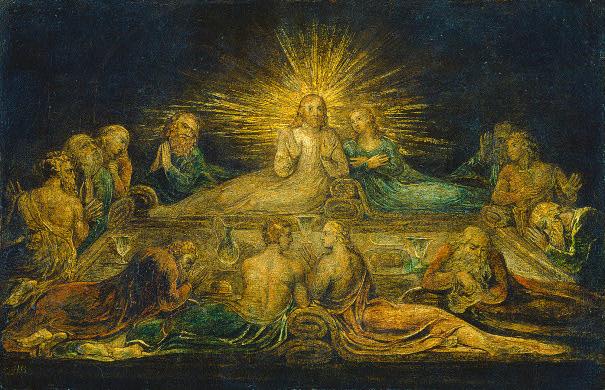 La Última Cena - por William Blake (1799)