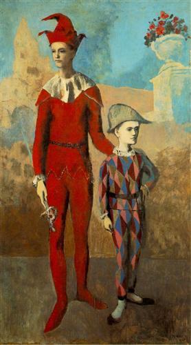 El acróbata y el joven arlequín