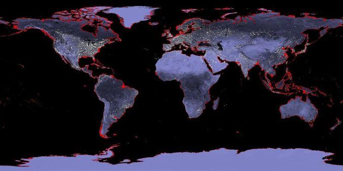 El incremento de 6 metros de los océanos.