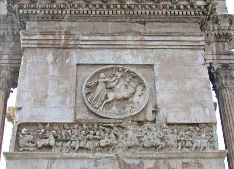 Sol Invictus en el Arco de Constantino
