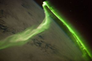 Aurora captada por la Estación Espacial Internacional.