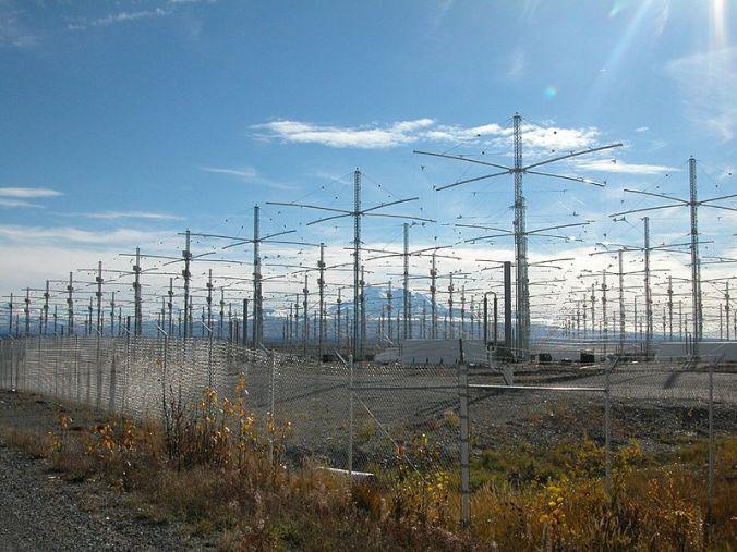 Las antenas del HAARP en Alaska