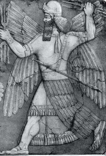 Representación del dios Marduk