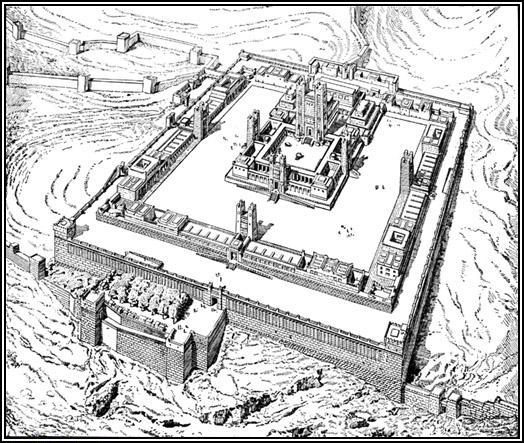 Templo contemplado por Ezequiel.