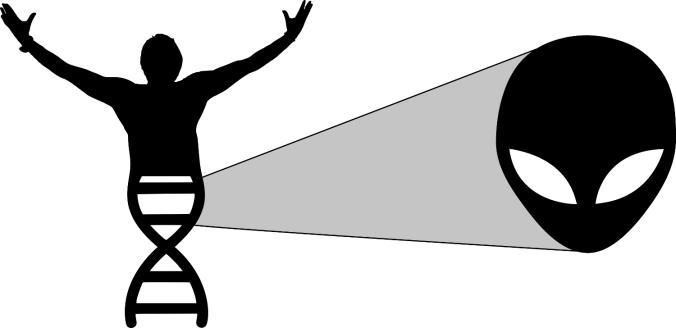 Imagen de ADN humano que es extraterrestre