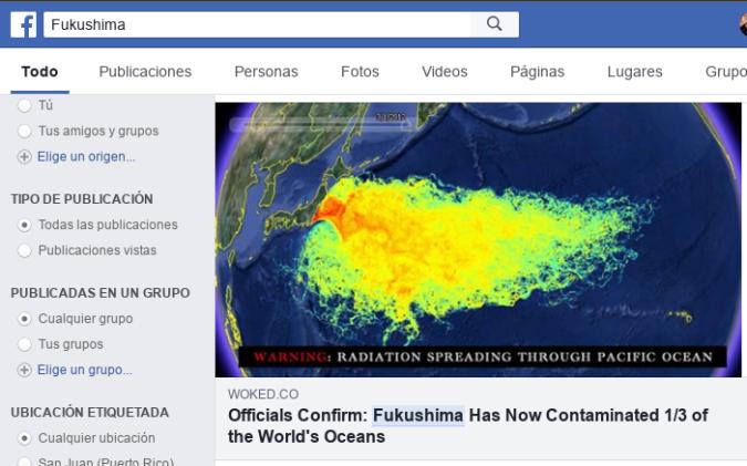 Noticia de que Fukushima contamina 1/3 de los océanos del mundo