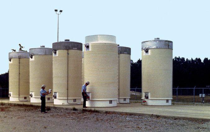 Unidades de almacenamiento nuclear.
