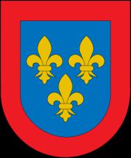 Escudo de armas de la dinastía Borbón-Anjou.