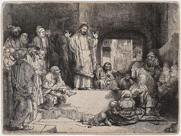 Jesús predicando - Rembrandt
