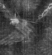 Imagen de las manos cruzadas en el Lienzo de Turín