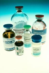 Botellas de químicos para la quimioterapia