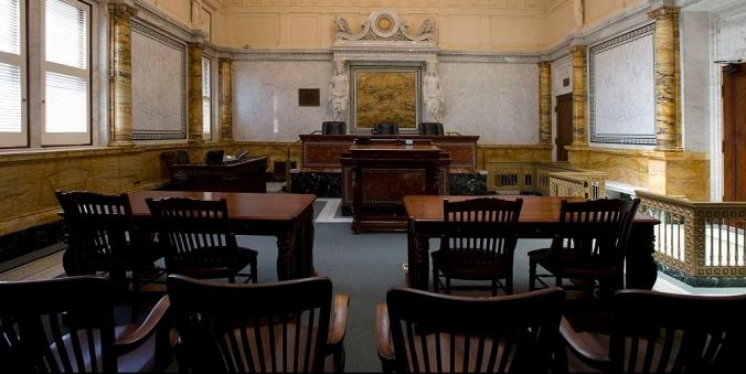 Fotografía de un tribunal