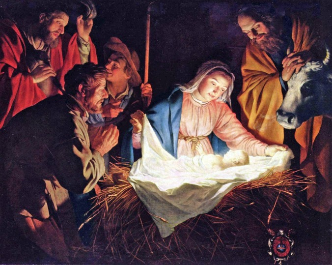 Nacimiento de Jesús - Gerard van Honthorst