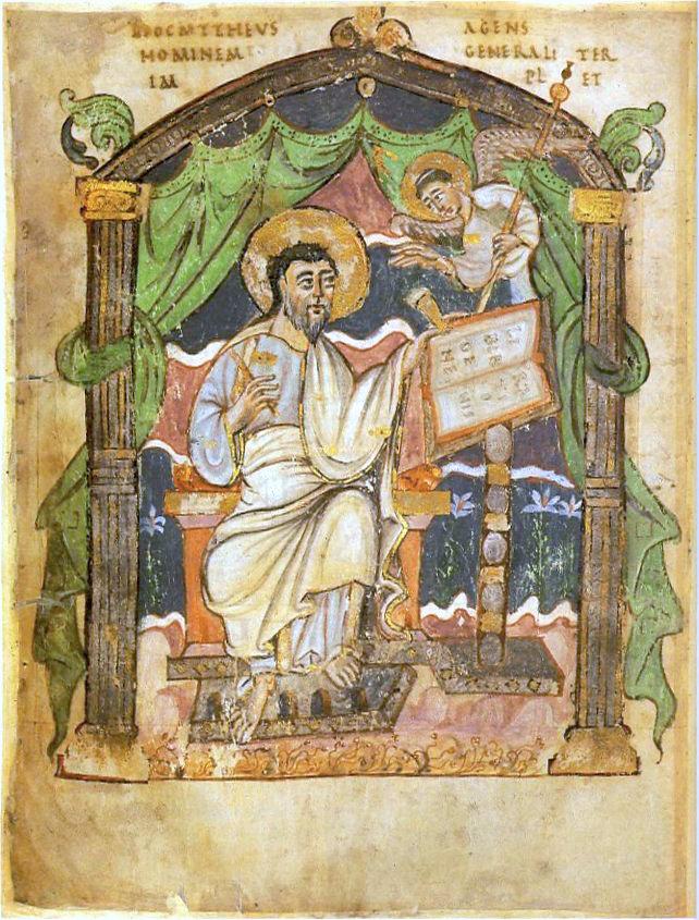 Ilustración del evangelista Mateo.