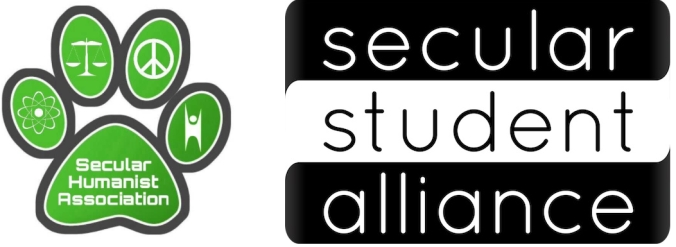Logotipos de la Secular Humanist Association y la Secular Student Alliance
