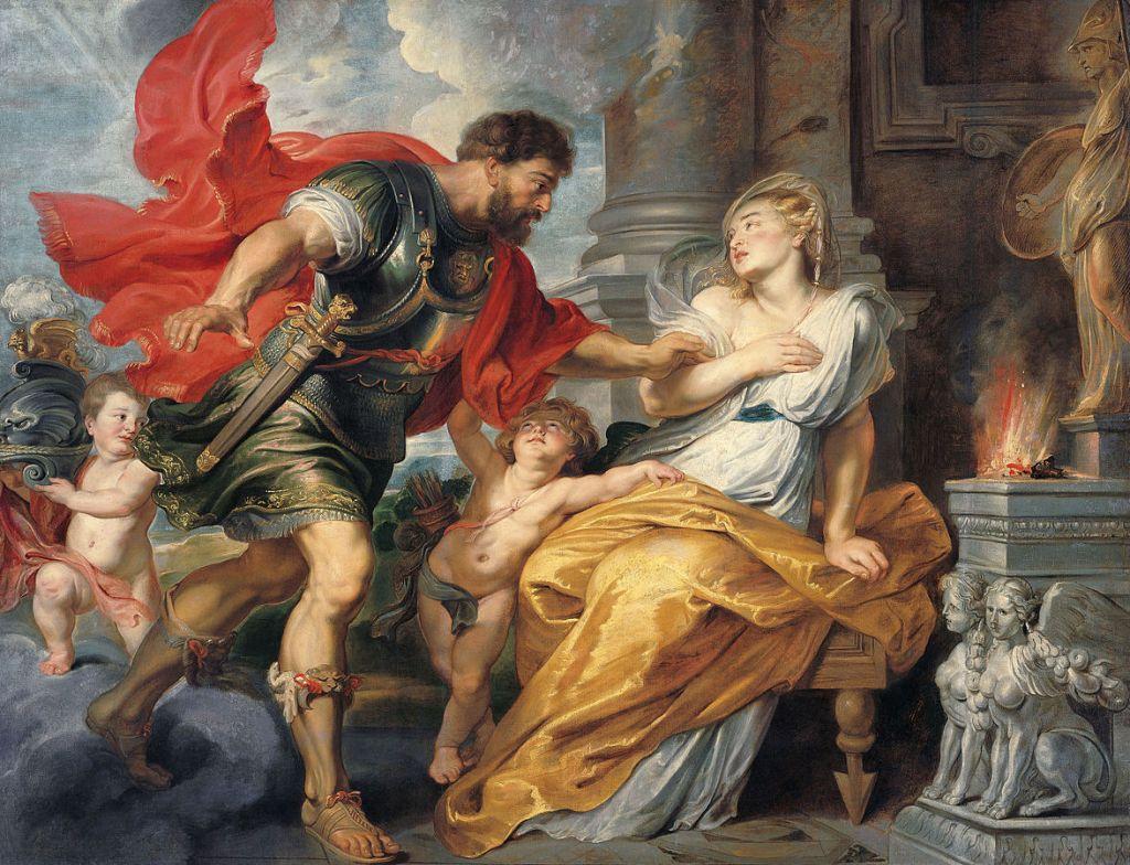 Marte y Rhea Silvia, por Peter Paul Rubens (ca. 1617)