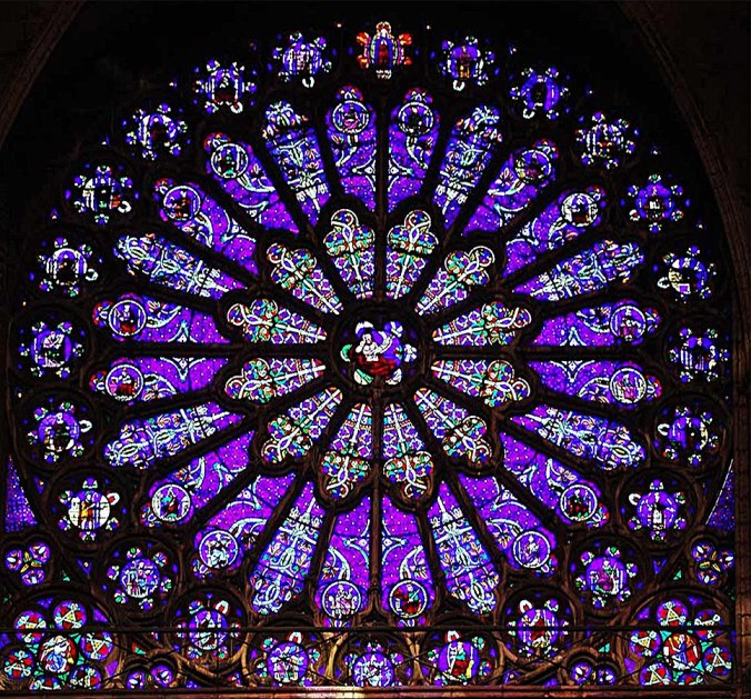 Vitral de la Catedral de San Denis