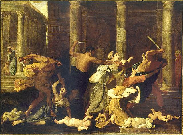 La masacre de los inocentes, de Nicolás Poussin.