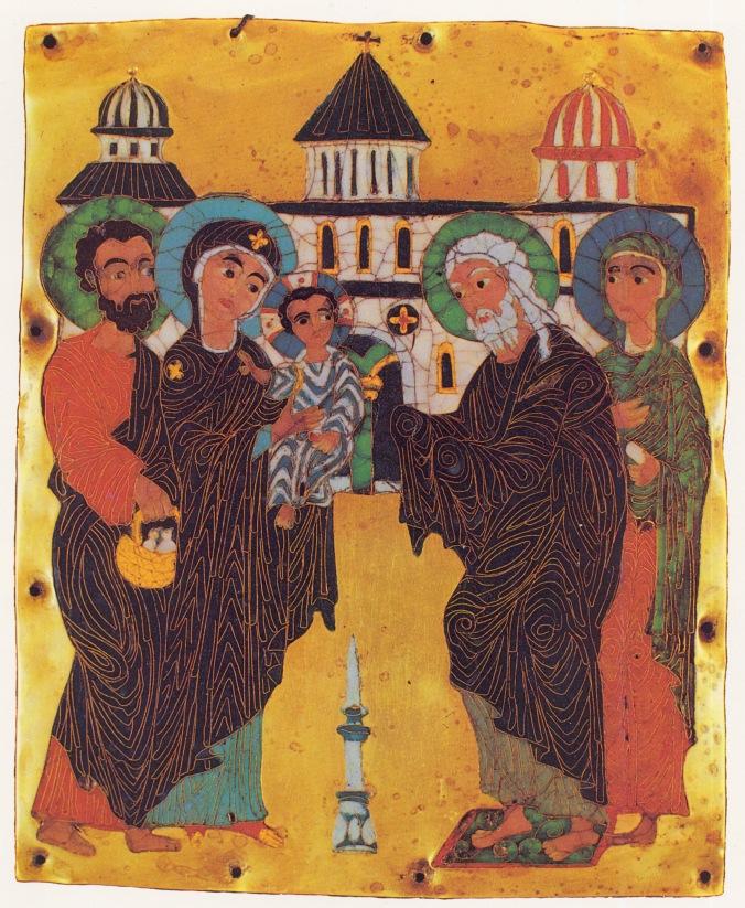 Presentación de Jesús en el Templo (siglo XII)