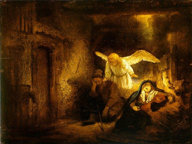 El sueño de José, por Rembrandt (1645-1646).