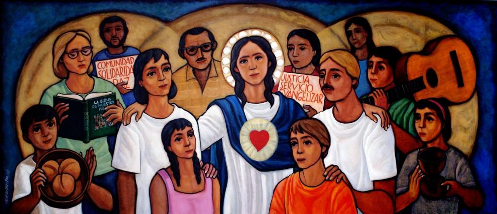 María de la Liberación, por el pintor sacerdote claretiano, Maximino Cerezo Barredo.