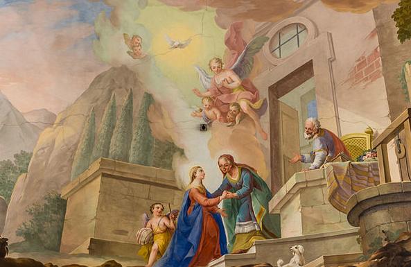 La visita de María a Isabel por Josef Adam Mölk (1773)