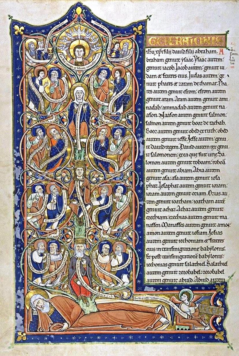 Ilustración del árbol de Jesé