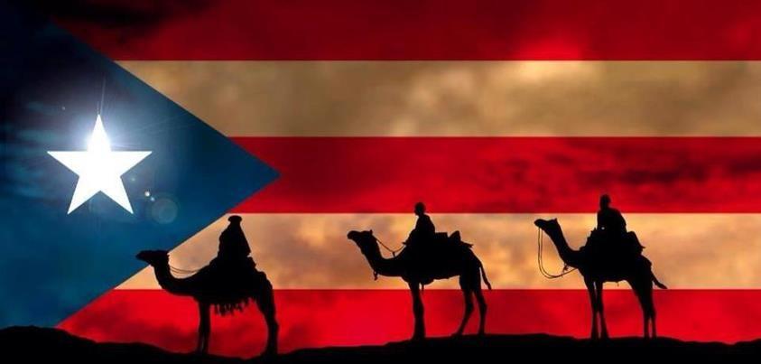 Los tres reyes y la bandera de PUerto Rico