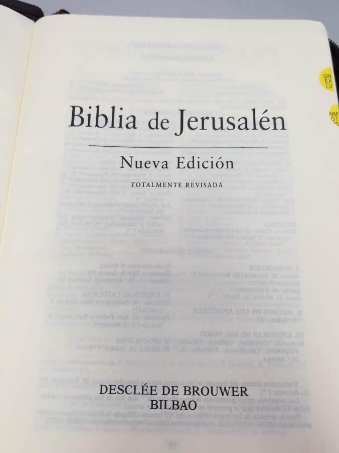 Página de Portada de la Biblia de Jerusalén