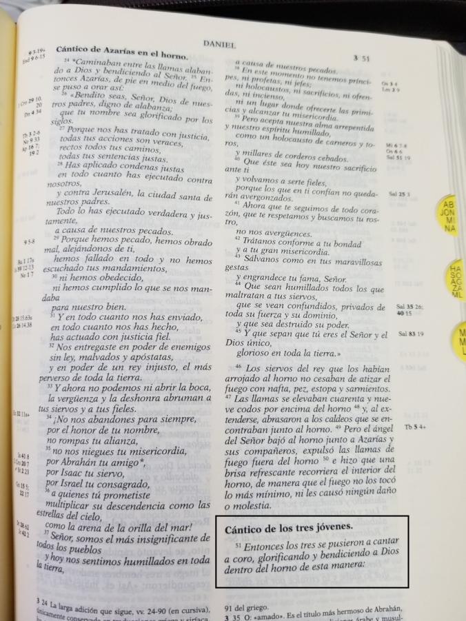 Biblia de Jerusalén - Cántico de los Tres Jóvenes