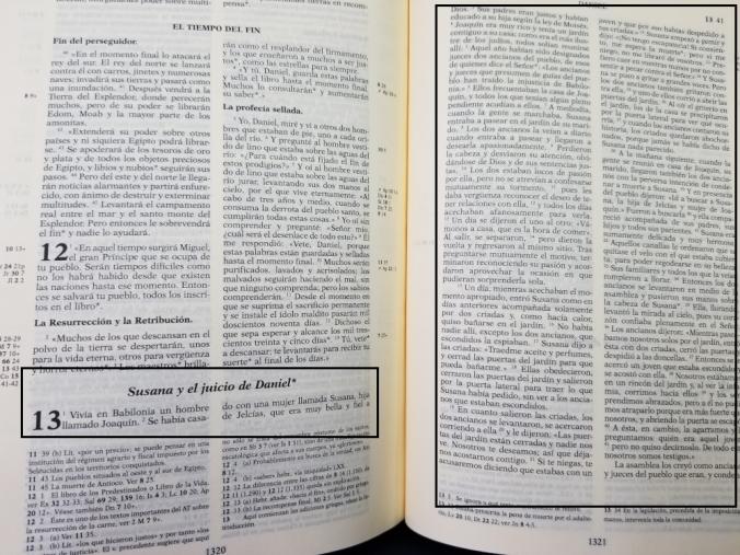 Biblia de Jerusalén y el Relato de Susana