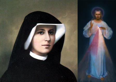 Sor Faustina y la pintura de la Divina Misericordia.