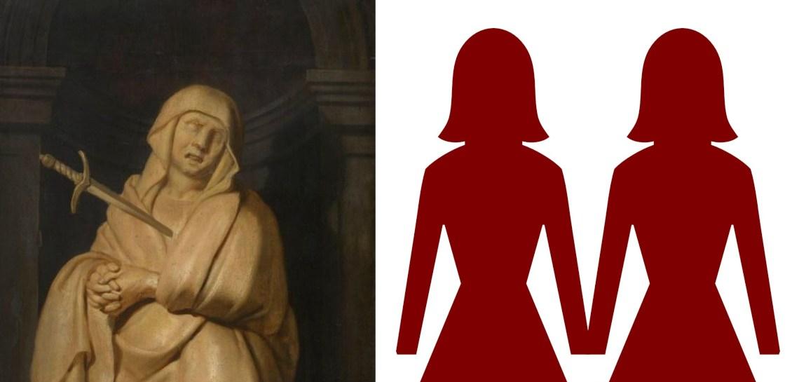 Virgen María y pareja lesbiana.