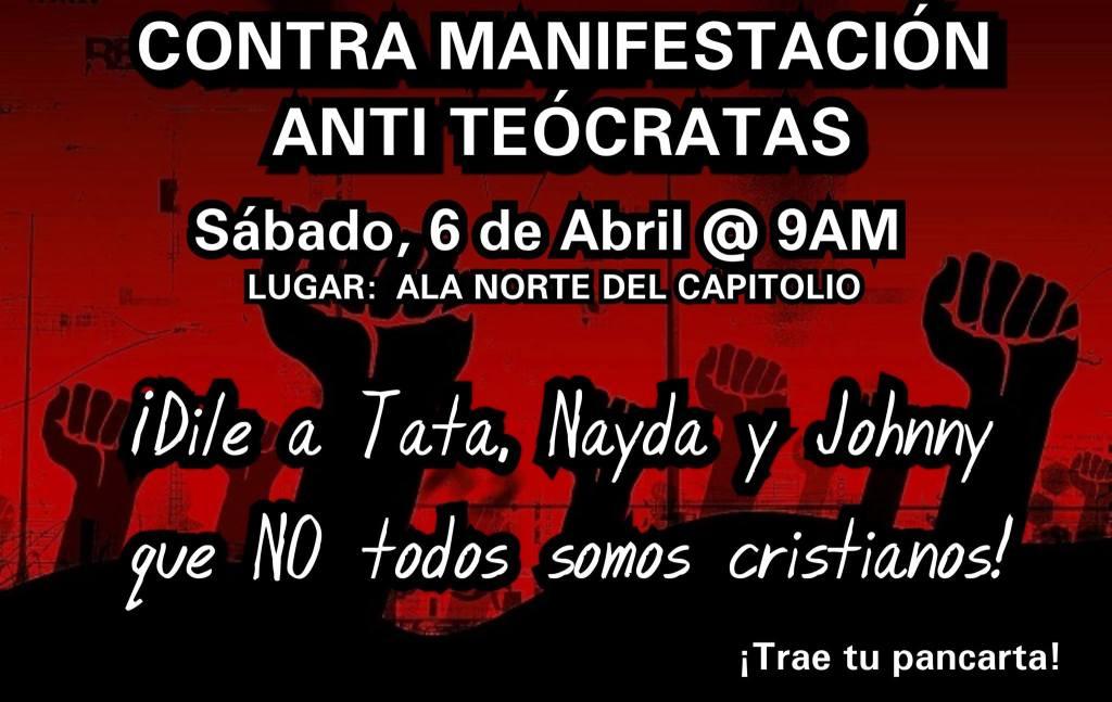 Contra manifestación antitócrata