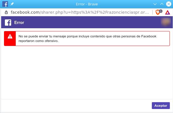 Aviso de URL bloqueada