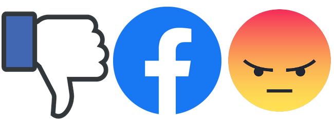Enojado con Facebook