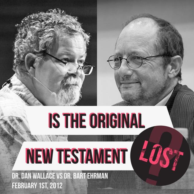 """Anuncio de debate  """"Is the New Testament Lost?"""""""