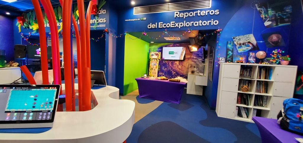 Vista al área del Área de Reporteros del EcoExploratorio. (c) 2019, Pedro M. Rosario Barbosa. CC-BY-SA 4.0+.
